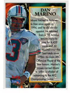 55e3cd02826 Dan Marino .. Sports Cards .. NFL Trading Cards ..  0.25