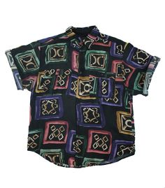 patterned button ups were popular for men