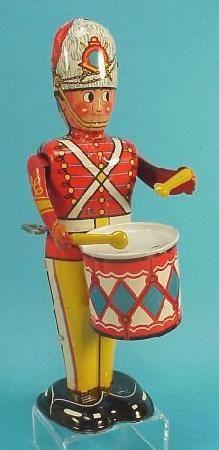 Toy soldier drummer wind up toy