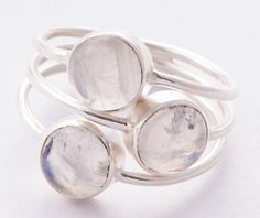 925 Sterling Silver Moonstone Ring MCR-4022 from Edelsteinschmuck by DaWanda.com