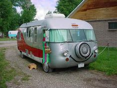 "Trying very hard not to type the words ""happy camper. I guess I blew it. Vintage Motorhome, Vintage Rv, Vintage Vans, Vintage Travel Trailers, Vintage Campers, Camper Caravan, Camper Van, Retro Rv, Rv World"