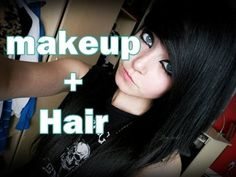 ▶ EMO/SCENE makeup and hair tutorial - YouTube Scene Makeup Tutorials, Emo Makeup Tutorial, Scene Hair Tutorial, Emo Scene Makeup, Goth Makeup, Hair Makeup, Eye Makeup, Black Scene Hair, Emo Hair