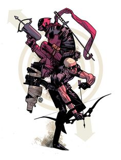 Hawkeye n Deadpool by ChristianNauck.deviantart.com on @DeviantArt