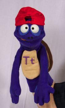 Druppets  - Turtle custom puppet for a children's reading program.