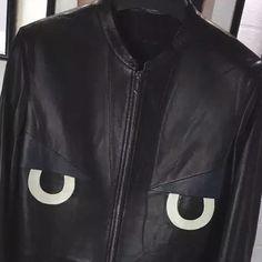 FENDI OWL .ct Patched Leather Blouson JP