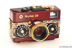 Rollei: Rollei 35 (Red Urushi, prototype) camera