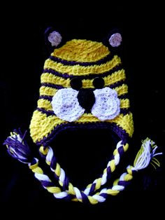 LSU hat... how cute is this? Elaina will need to make this one day