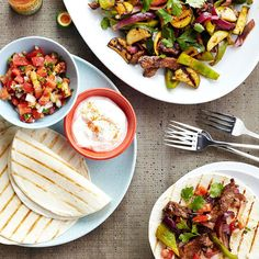 Enjoy your favorite fall veggies with these tasty fajitas. More recipes from our Oct. Issue: http://www.bhg.com/recipes/from-better-homes-and-gardens/october-2012-recipes/