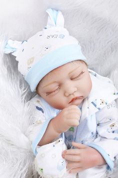 89.99$  Buy here - http://alikwp.worldwells.pw/go.php?t=32644541893 - 22inch 55cm Silicone baby reborn dolls, lifelike doll reborn babies  for  Children's toys baby blue eyes 89.99$