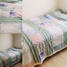 Sengetæppe af gammelt sengetøj. Genbrug. Re-design. #Kriskrea
