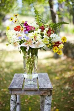 wild flowers for country wedding