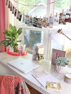 Desk Envy: Lindsay Jackman of The White Buffalo Styling Co.'s Peppy Office-Meets-Playroom