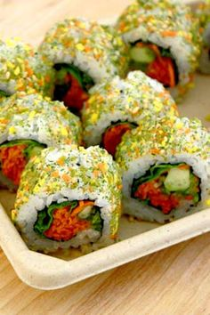 Genji Sushi Bars Furikake Spice Roll: Green Spice Veggie Salad Roll at Whole Foods Market