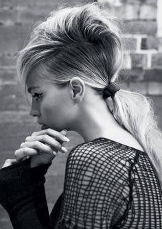 edgy ponytail