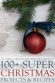 100+ Super Christmas Projects & Recipes all in one place! You're going to love this collection of links!