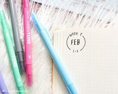 Header for February's week Inspired by ⠀⠀⠀⠀⠀⠀⠀⠀ Week 5, Bullet Journal Layout, Header, Inspired, Layouts, Minimalist, Group, Instagram, Board