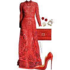 Red by efiaeemnxo on Polyvore featuring polyvore fashion style Alexis Bittar Kelly Wearstler Christian Louboutin christianlouboutin sbemnxo styledbyemnxo