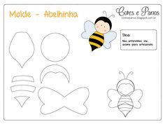 Image gallery – Page 571253533982756656 – Artofit Felt Patterns, Applique Patterns, Stuffed Toys Patterns, Craft Patterns, Quiet Book Templates, Felt Templates, Motifs D'appliques, Bee Crafts, Felt Decorations