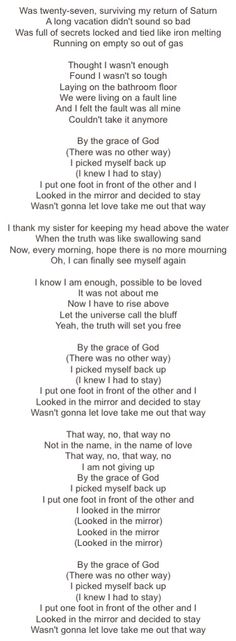 By The Grace of God- Katy Perry Truth Quotes, Me Quotes, Katy Perry Lyrics, Fight Song, I Feel Good, Music Stuff, Great Quotes, Strong Women, Song Lyrics