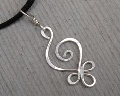 Sterling Silver Celtic Budding Spiral Pendant by nicholasandfelice