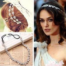 Women Girl Lady Fashion Metal Crystal Headband Head Piece Hair Band Jewelry