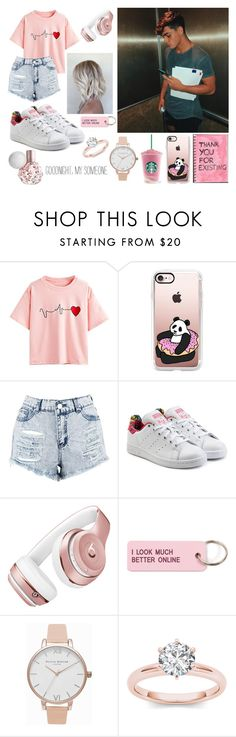 """""""Grayson Dolan"""" by sorrynoturbabe ❤ liked on Polyvore featuring WithChic, Casetify, Boohoo, adidas Originals, Beats by Dr. Dre, Various Projects and Olivia Burton"""