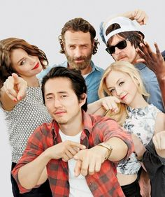 """""""The Walking Dead Cast at the San Diego Comic Con fur TV Guide on July 26, 2014"""""""