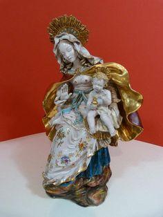 a3bfadbbf04c Madonna Jesuskind Eugenio Pattarino Fayence Skulptur Italy Gesu