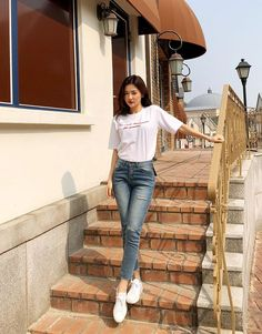 korean fashion outfits 157 The post korean fashion outfits 157 appeared first on Casual Outfits. Korean Fashion Trends, Korea Fashion, Asian Fashion, Look Fashion, Girl Fashion, Fashion Outfits, Fashion Styles, Street Fashion, Trendy Fashion