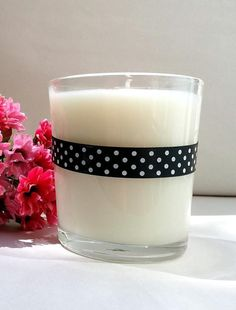 Rose and Baby Lotion Scented Candle by PudgeBabyCandles on Etsy, $12.50