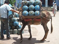 Morocco - butagaz delivery system!!! love this.