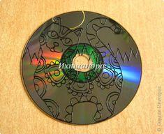 Картина, панно, рисунок Роспись: Золотые мелодии витражных CD дисков Диски компьютерные, Краска День рождения. Фото 8