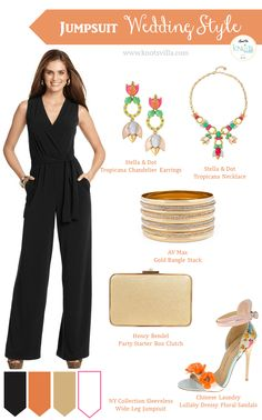 Wedding Guest Jumpsuits: 4 styles and color combinations on how to wear a jumpsuit for your next wedding and be that stunning guest! Trendy Wedding, Wedding Styles, Wedding Black, Formal Wedding, Wedding Attire, Wedding Colors, Black Jumpsuit Outfit, Jumpsuit For Wedding Guest, Sweetheart Wedding Dress