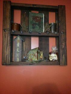 wooden palete shelves | Wood pallet shelf | future home sweet home