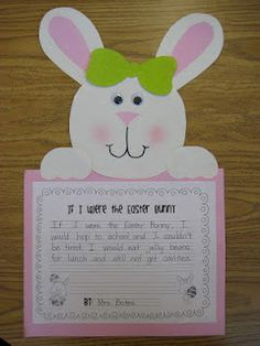 If I were the Easter bunny.....place bow as a bow tie for boys, use chalk on cotton ball for cheeks..