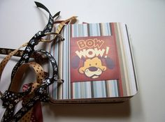 Dog Mini Album Chipboard Scrapbook Dog Mini Album by HampshireRose