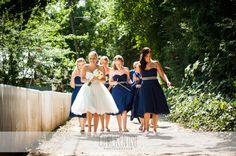 Bride & Bridesmaids in Navy - Wedding Photography by Clare Kentish Photographer, Rayleigh, Essex