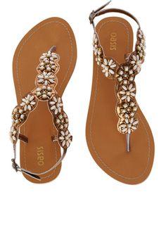 28398dee3f7612 Beaded Flower Sandals  3