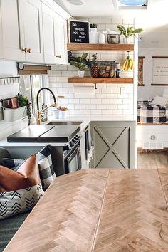 Examine below for home renovation guide Rv Living, Tiny Living, Farmhouse Toys, Go Glamping, Camper Makeover, Makeover Tips, Rv Interior, Camper Renovation, New Cabinet