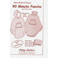"""90 Minute Poncho"" - Idea for making your own camp blanket with a hood, pocket & pouch to fold it away into?"