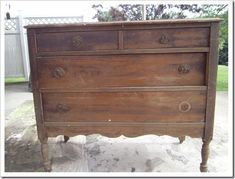 antiqued painted furniture. This piece is finished now....talk about gorgeous....now it's black with an antiqued aged look. found at Petticoat Junktion #paintedfurniture #antiqued #petticoatjunktion