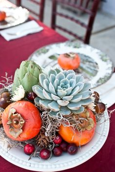 Turn your reception into a gorgeous feast with Vibrant Fall Harvest Succulent Centerpieces. These stunning, fresh DIY wedding centerpieces draw eyes and scream autumn. Succulent Centerpieces, Fall Wedding Centerpieces, Thanksgiving Centerpieces, Fall Wedding Flowers, Fall Wedding Colors, Diy Centerpieces, Autumn Wedding, Yellow Wedding, Family Thanksgiving