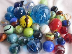 marbles in Marbles Marble Toys, Glass Toys, Glass Marbles, Bouldering, Blinds, Mint, Packing, Classic, Hobbies