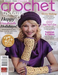 REVISTAS DE MANUALIDADES GRATIS: Crochet today noviembre/diciembre 2012