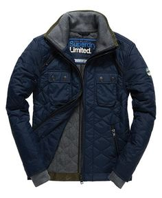 Superdry Nylon Polar Quilt Jacket Navy