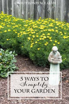 5 Ways to Simplify and Enjoy Your Summer Garden | Tips from a DIY gardener to make your gardening chores easier and quicker.