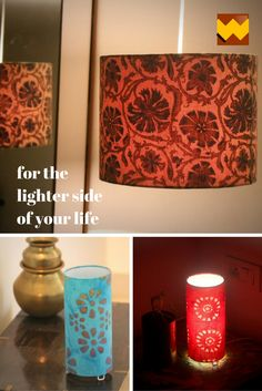 textiles fabric handmade homemade lampshades interior decor