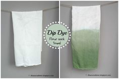 How to dip dye flour sack towels                                                                                                                                                                                 More