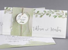 Es grünt so grün, dass sogar die schönsten Blumen neben der Braut erblassen - unsere Hochzeitskarte Eukalypten