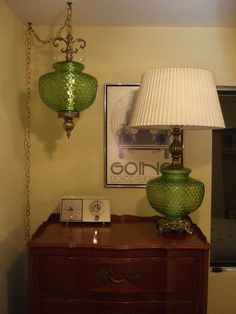This is just one of my vintage swag lamp/table lamp sets that I do.